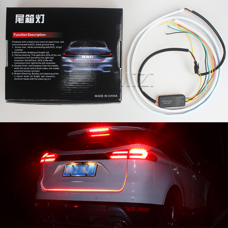 Car-styling DRL LEDs Daytime Running Light Strip Trunk Light with Side Turn Signals Rear lights Car Braking Light For BMW for ford fusion 2013 16 guiding light daytime running lights drl turn signals 2x