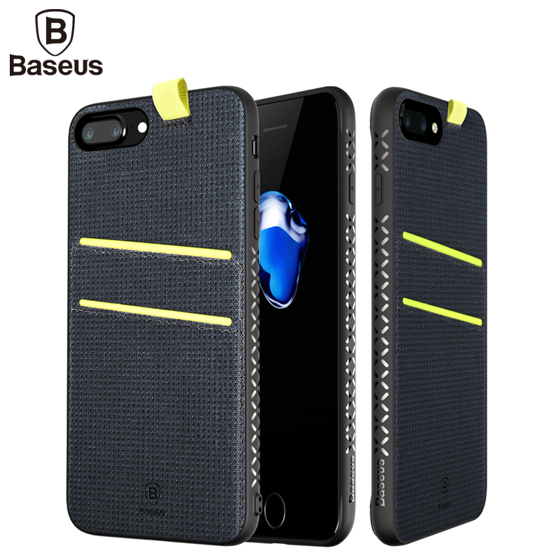 font b Baseus b font Luxury Magnet Case For iPhone 7 With Card Slot Leather
