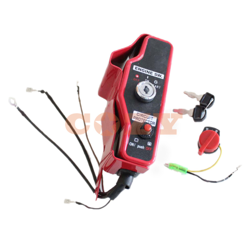 Brand New Red Ignition Switch Control Box with 2 Keys for Honda GX340 GX390 11hp 13hp Gas Engine