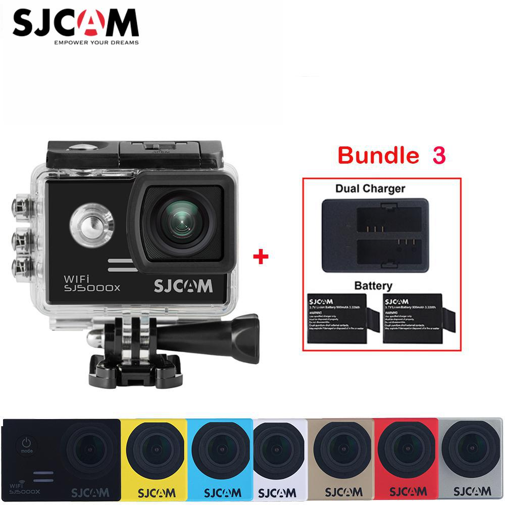 "100% Original SJCAM SJ5000X Elite WiFi 4K 2.0"" Screen 30M Waterproof Sports Action Camera Car Mini DVR+2 Battery+A Dual Charger"
