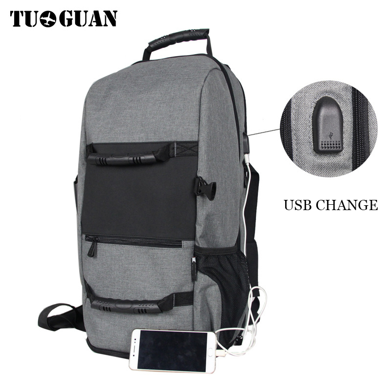 TUGUAN Men Waterproof Travel Backpack USB Charge 17 inch Laptop Large Capacity  Back Pack Business Bags for Man Luggage Package cool leopard lion men backpack male travel large capacity backpacks 17 inch men s laptop back pack teenager boys new school bags