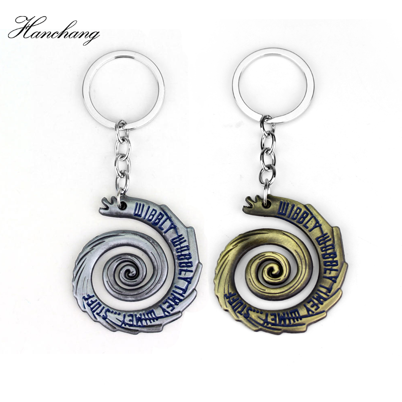 Doctor Who Dalek Blue Enamel TARDIS Police Box Pendant Keychain keyring Car Key Chain Accessories Men Jewelry Souvenir Fans Gift