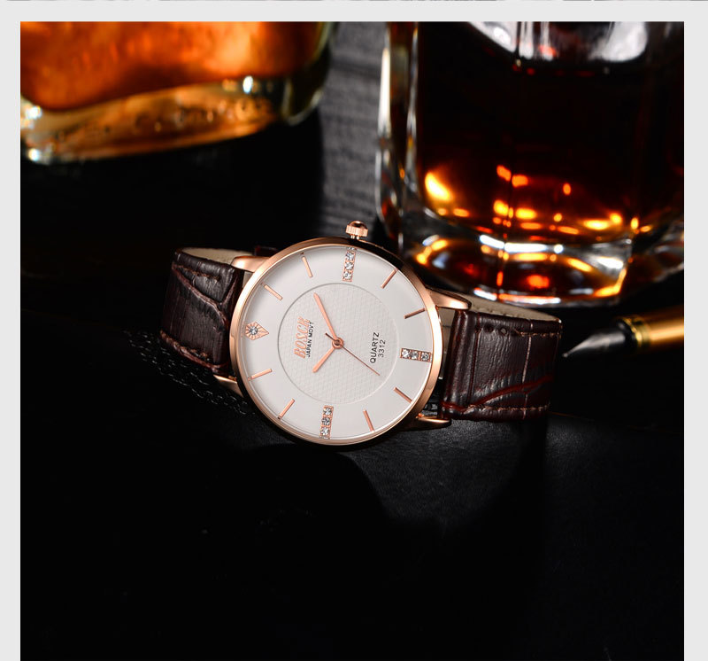 Boys and girls students Korean version of the simple trend of the mechanical ring sports watch
