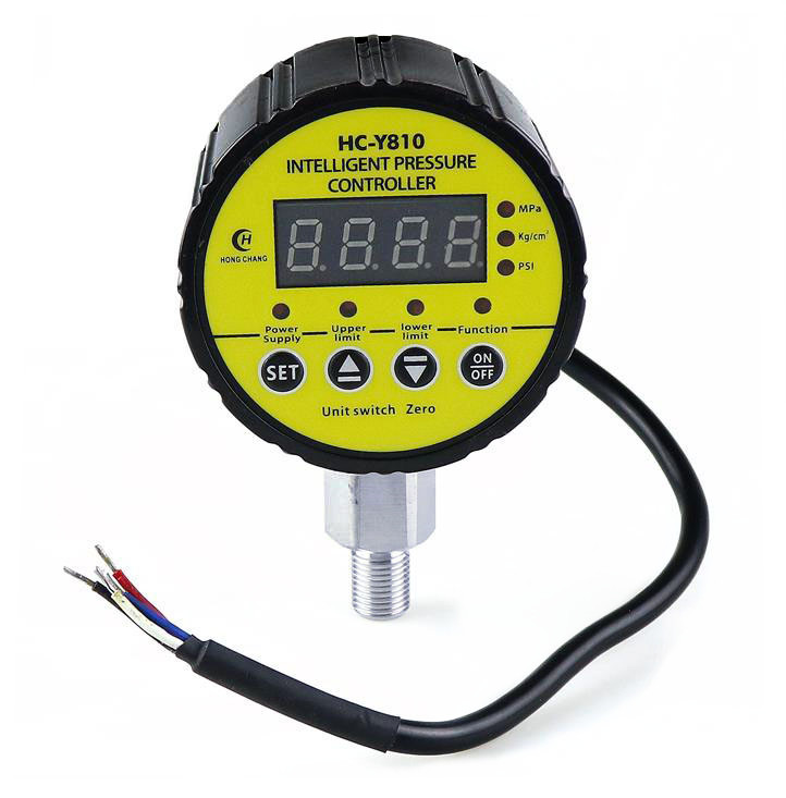 AC220V  M20 1 5Threaded connection  Digital electric contact pressure gauge  gauge radial leakage short circuit protection