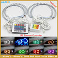 4pcs/lot 2x 131MM + 2x 146MM Multi-Color 5050 RGB LED Angel Eyes Halo Ring RF remote control For BMW E36 E38 E39 E46