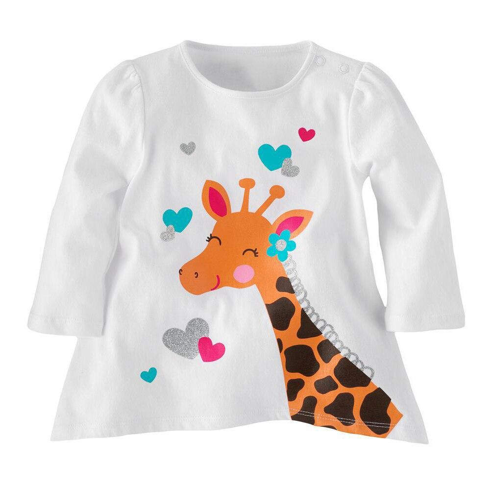 1-5y Jungen Mädchen T-shirts Kinder T-shirt Baby Boy Pullover Bluse Kinder Pullover Frühjahr Herbst Langarm Baumwolle Cartoon Kleidung Offensichtlicher Effekt