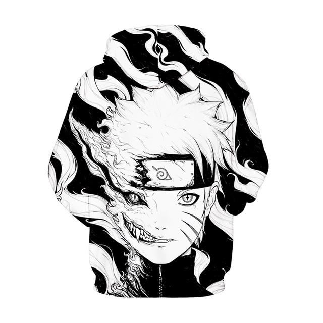 Naruto Black White Printed Hoodies