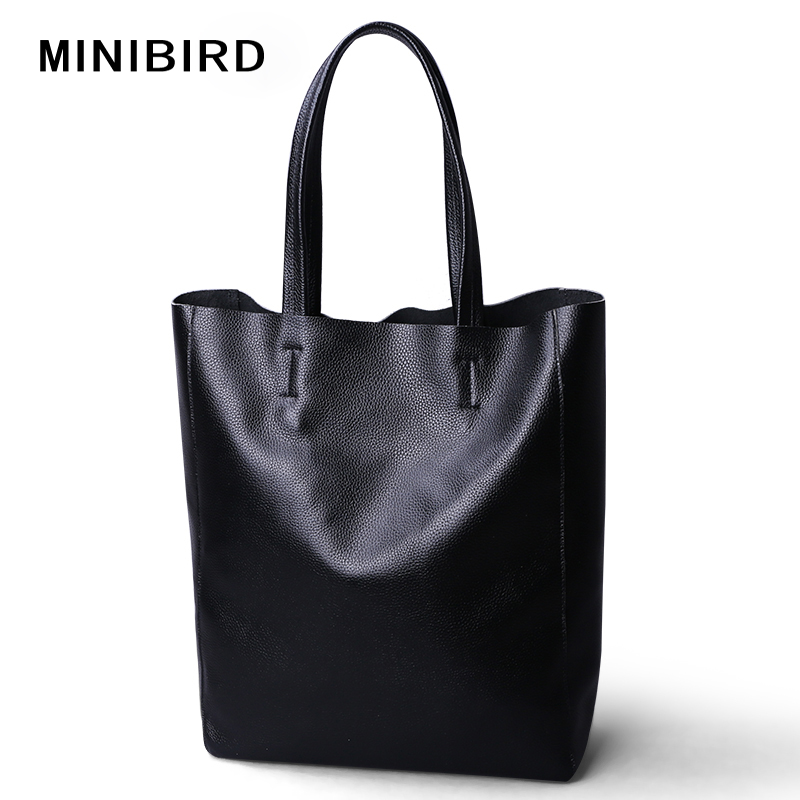 Hotsales Women Casual Totes Female Luxury Simple Fashion Handbags Lady Genuine Cowhide Leather Daily Use Shoulder Shopping Bags 2017 new female genuine leather handbags first layer of cowhide fashion simple women shoulder messenger bags bucket bags