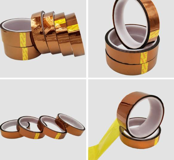 Wholesale Supply 50pcs 33M X3-100mm Meter Heat Resistant Polyimide Tape High Temperature Adhesive Insulation  Tape