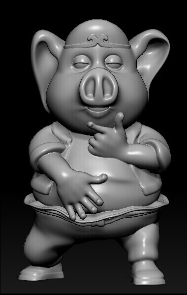 3d Model Relief For Cnc In STL File Format Pig