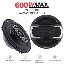 2 stücke 6,5 Inch 12V 600W 4 Weg Auto Koaxial Auto Musik Stereo Vollständige Palette Frequenz Hifi Lautsprecher nicht-destruktiv Installation
