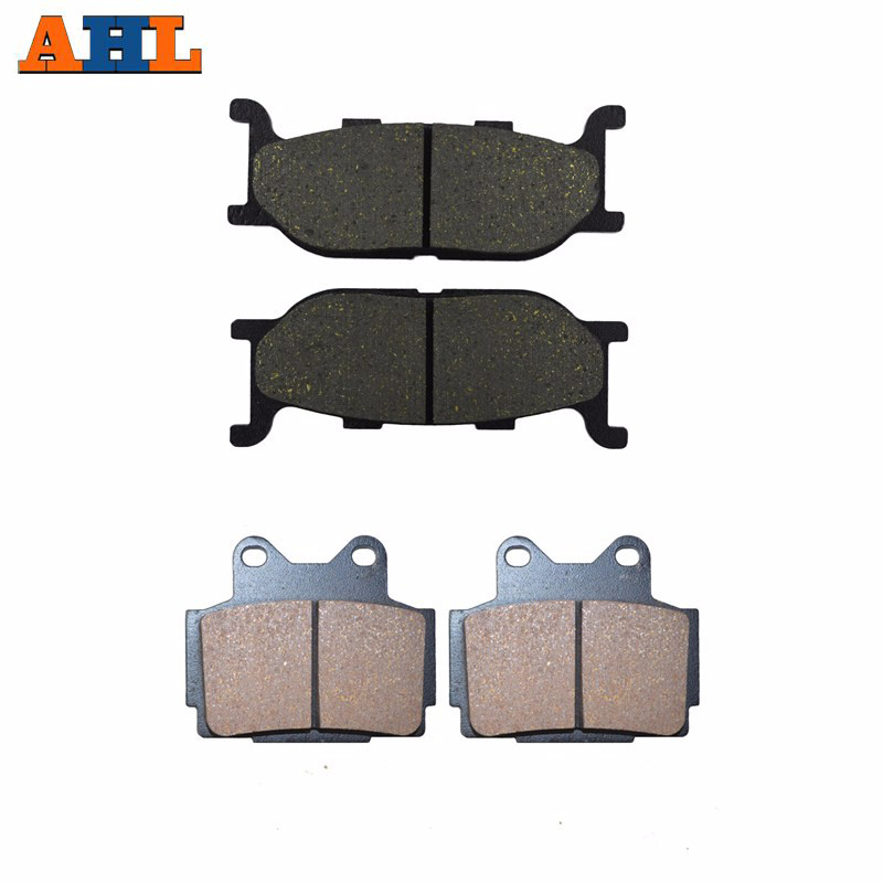Motorcycle Front & Rear Brake Pads For <font><b>YAMAHA</b></font> XJ 600 <font><b>XJ600</b></font> S Diversion 1992-1997 Black Brake Disc Pad image
