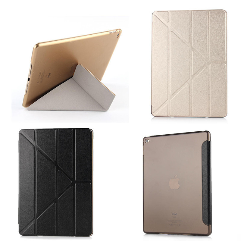 Luxury Smart Cover Case for Apple iPad Air 2 / iPad 6 Slim PU Leather Stand Cover + Colorful Crystal Back Case For iPad Air2