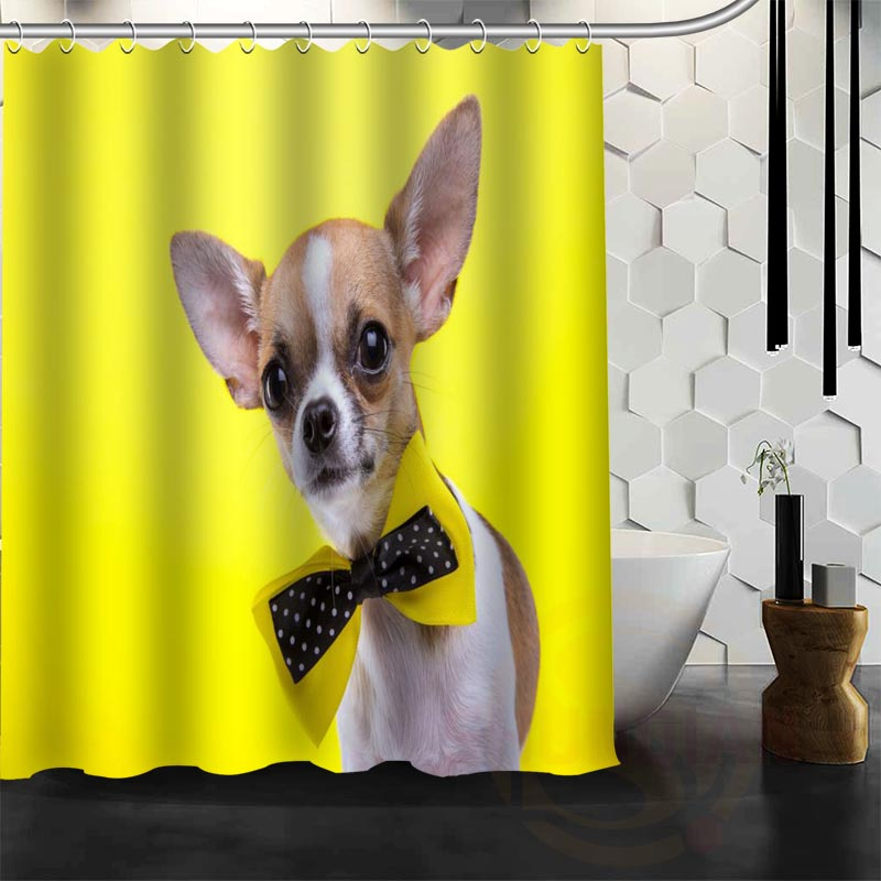 Best Nice Custom Dogs Pug Puppy Animal Shower Curtain Bath Curtain Waterproof Fabric For Bathroom MORE SIZE WJY#72