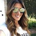 Mais novo Hot Sale Da Moda Mulheres Senhoras Óculos De Sol Da Marca Designer Colorido Reflective Coating Lens Óculos Acessórios Óculos de Sol