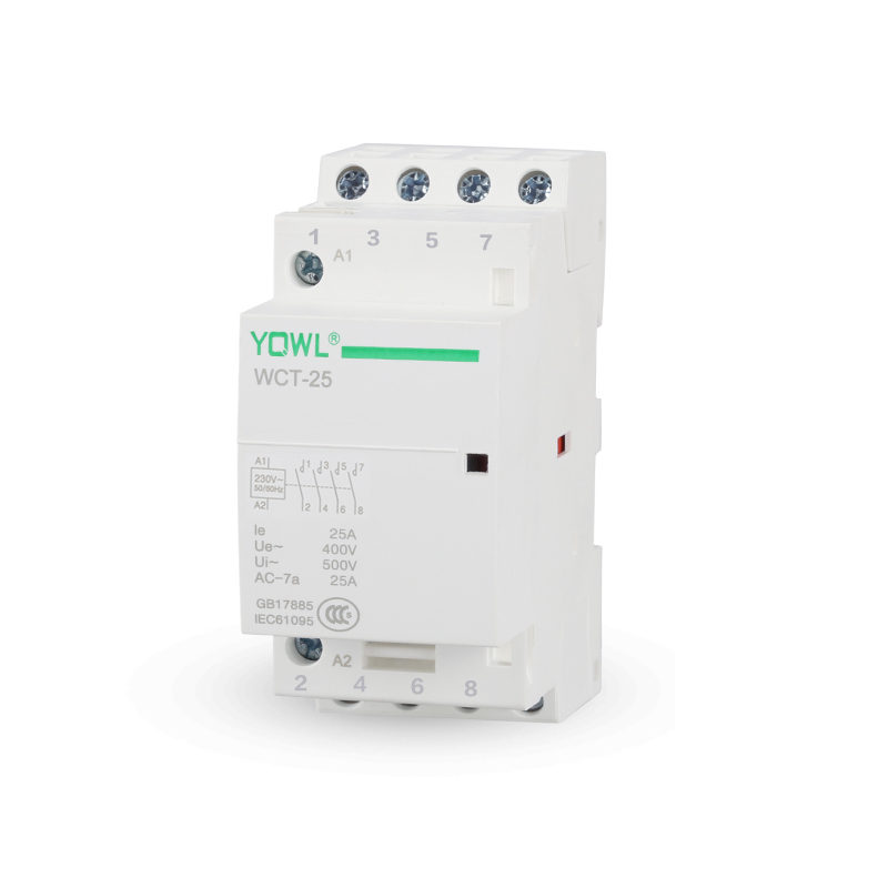 4P 25A 4NO 4NC 2NO+2NC 24V/110V/230V 50/60HZ Din Rail Household AC Contactor oct 63 series 4p 40a 63a automatic operation ac household contactor 220v 230v 50 60hz contact 4no 2no 2nc 4nc din rail contactor