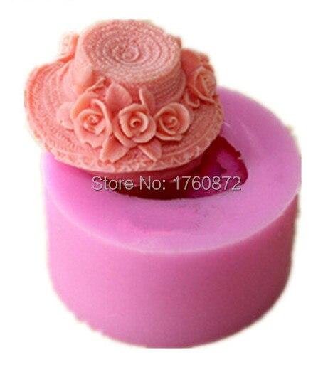 무료 배송 발렌타인의 장미 모자 모델링 비누 금형 실리콘 케이크 금형 퐁당 초콜릿 금형 수제 비누 금형