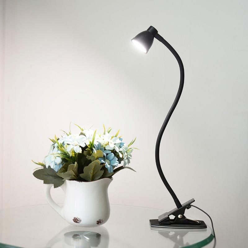 Fonkin Usb LED Table Lamp Clip Dimmable Flexo Lampe Bureau Book Light For Reader Study Office Luminaria Desk Lamp 5DV 3W 668A