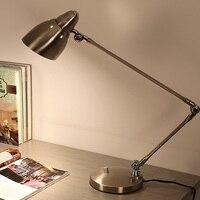 Creative Long Arm Folding Desk Lamp Business Office Study Work Desk Lamp Bedroom Reading room Modern Eyeshield led Table Lights