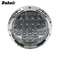 Bakuis 5D 7 Inch 126W Round MOTO LED Projector Headlight Waterproof Bulb for Harley Davidson Motorcycle & Jeep Wrangler