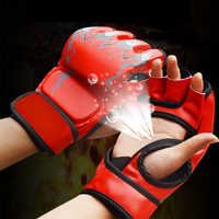 1 par de guantes de boxeo de cuero PU para Deporte Fitness Tigre MMA Karate Kick boxeo Thai taekwondo entrenamiento guantes para Sanda para hombres