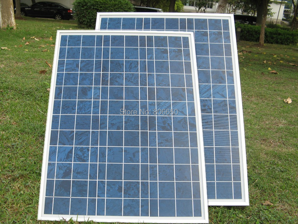 UK Stock 80w 2x40watt 18 v solar panel poly solar module-40w 18v pv solar panel high quality high cover ratio solar generators 80pcs poly solar cell 156x39mm polycrystalline kits high quality for diy 80w solar panel solar generators