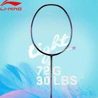 Li Ning WINDSTORM 72 Badminton Racket Single Racket Light Professional Carbon Fiber LiNing Racket AYPM084/AYPM192/AYPM204 ZYF235