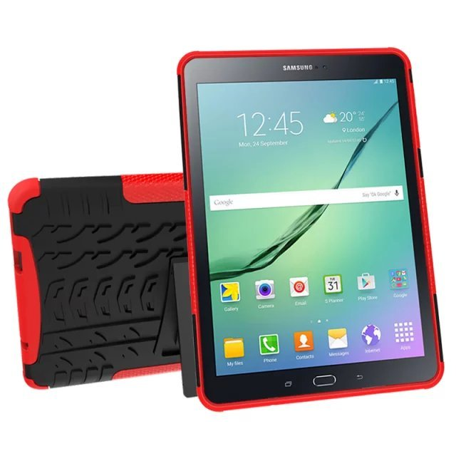 promo code 80ac6 710e9 US $9.99 |New Defender Stand Cover Cases For Samsung Galaxy Tab S2 9.7 T815  T810 case Hybrid TPU Hard Shockproof Protective Case 8 Colors on ...