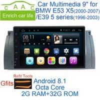 Android 6.0 Quad Core GPS Navi 9 Дюймов Полный Сенсорный автомобильный DVD Мультимедиа для BMW E53 X5/E39 5/M5 97 06 с BT/RDS/Радио/Canbus/WIFI