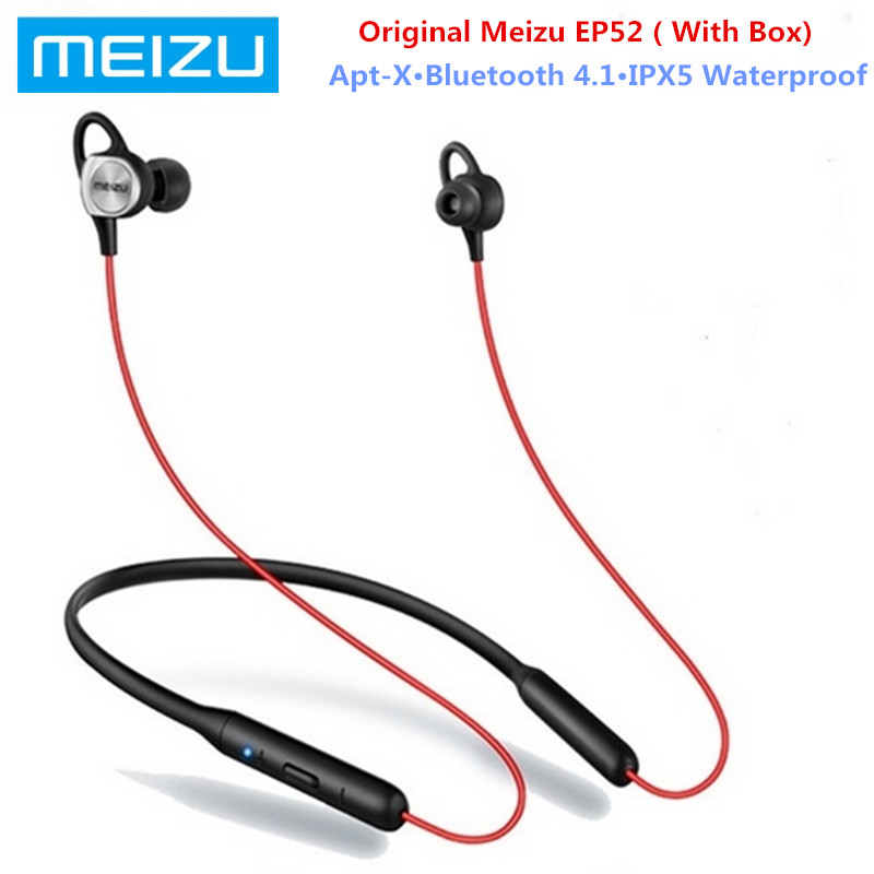 Meizu EP52 Wireless Sport Earphone Stereo Earbuds Headset With MIC Supporting Bluetooth 4.1 Apt-X 8 Hours Play Waterproof IPX5
