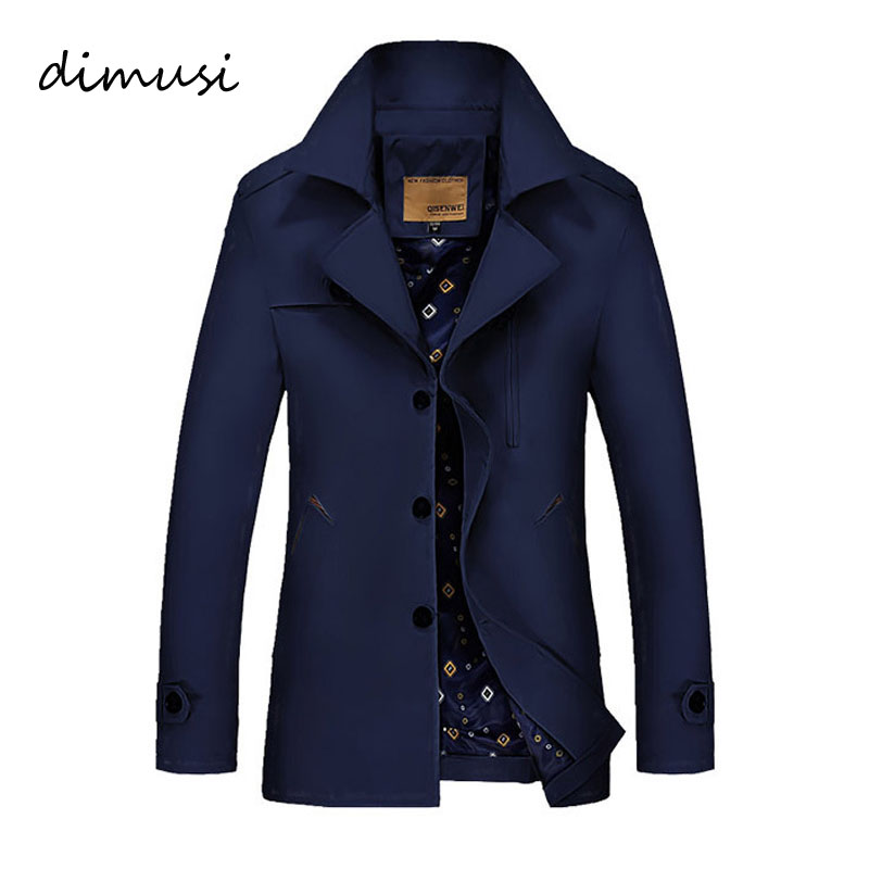 DIMUSI Men's Winter Jacket Fashion Windbreaker Military Waterproof Men Long Trench Jacket Coats Army Casaco Masculino 4XL,TA017
