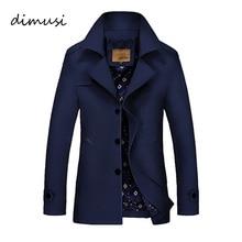 Dimusi Для мужчин; зимняя куртка модная ветровка в стиле милитари Водонепроницаемый Для мужчин длинный плащ куртка пальто армия Casaco Masculino 4XL, TA017
