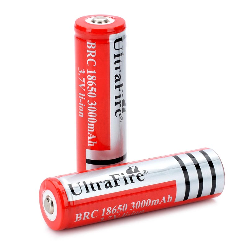 (2pcs/ Lot) BRC 18650 Batteries Li-ion Rechargeable Batteries Lithium 18650 Battery For LED Flashlight