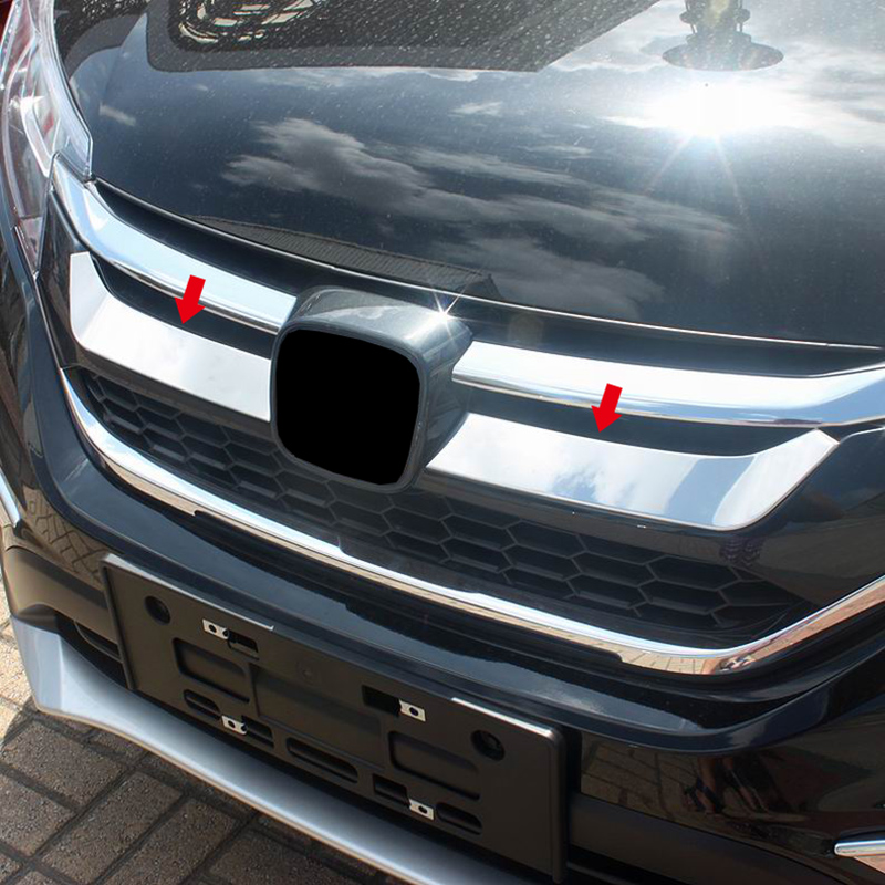 For Honda CRV CR-V accessories 2015 2016 Stainless steel Front Grille Grill Engine Lid Decoration Molding Cover Kit Trim
