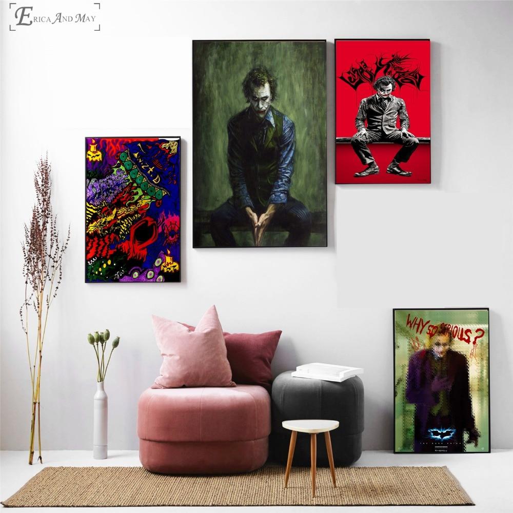 Джокер рисунок фильм Книги по искусству работать на продажи плакат настенная живопись Гостиная абстрактной Книги по искусству фотографии ...