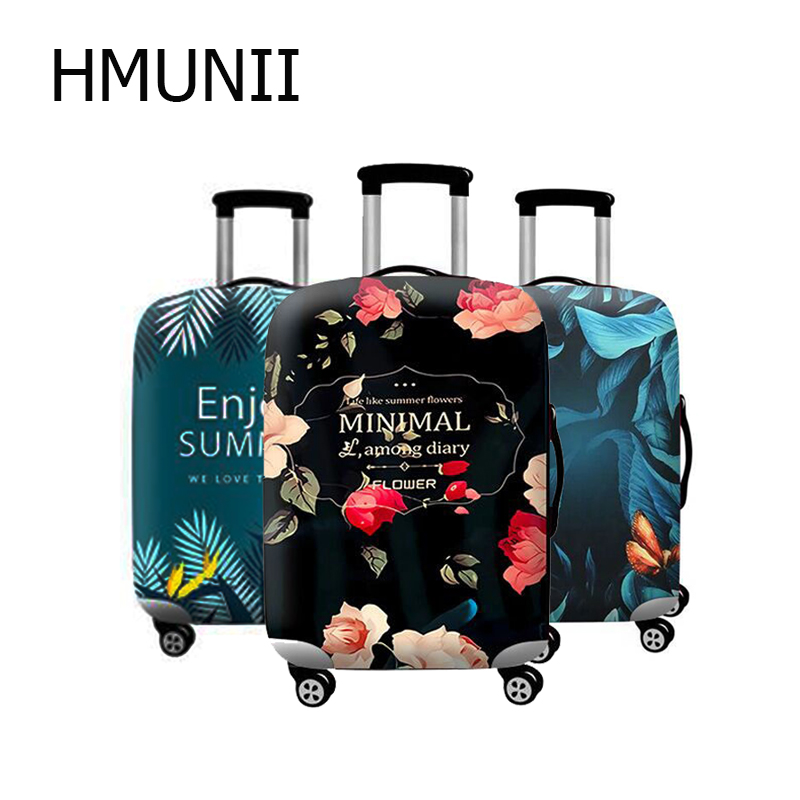 HMUNII Hot Fashion Suitcase Protective Cover Elastic Luggage Dust Cover Apply To 24 Inch Multi-function Travel Accessories