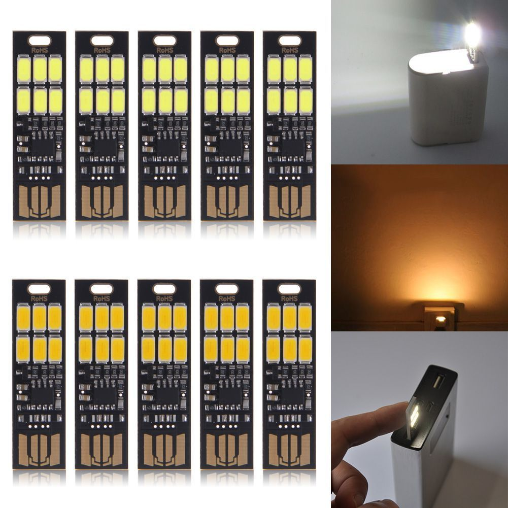 Sales Mini USB Power 6-LED Night Light 1W 5V LED Touch Dimmer Warm Light P20