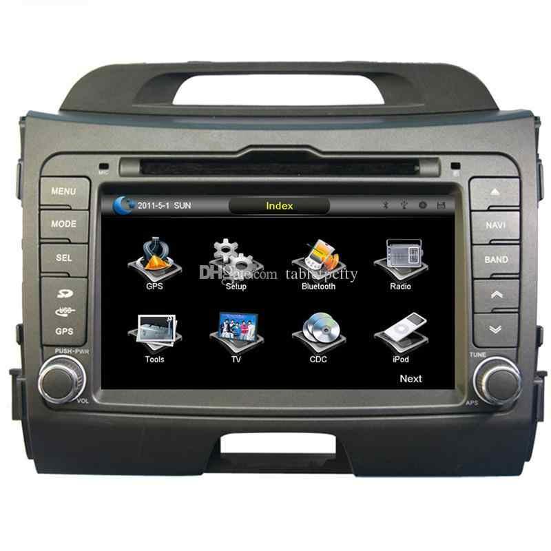 """7 """"автомобильный dvd-плеер с gps (опция), USB/SD, AUX, BT/tv, аудио Радио стерео, Автомобильная Мультимедийная Главная панель для KIA sportage R 2010 2011 2012"""