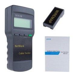 SC8108 LCD Digital PC Data Network Portable Multifunction CAT5 RJ45 Wireless LAN Phone Meter Length Cable Tester Meter