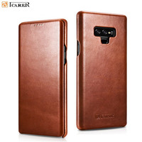 iCarer Genuine Leather Case For Samsung Galaxy Note 9 Note8 Retro Cover For Samsung S9 S8 Plus Real Cowhide Leather Case