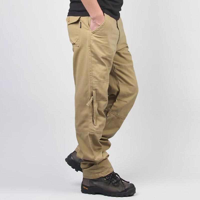 10a7a44a79c00 New Fashion Men Tactical Cargo Pants with Side Zipper Pocket Military Style  Loose Baggy Harem Hip