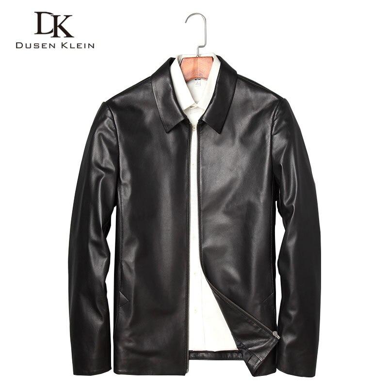 Erkek Kıyafeti'ten Hakiki Deri Montlar'de Marka erkek Deri Ceket Yumuşak koyun derisi Ceket Siyah Erkek Hakiki Deri giyim Sonbahar Artı Size5XL Ince mont black71J7867'da  Grup 1