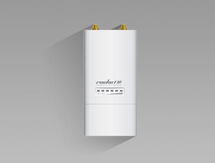 RocketM5 5 GHz Hi Power 2x2 Ubiquiti MIMO airMAX TDMA BaseStation Ponte de Rede Sem Fio
