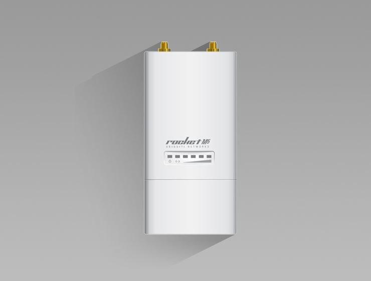 Ubiquiti RocketM5 5 ГГц Hi power 2x2 MIMO TDMA airMAX BaseStation беспроводной сетевой мост