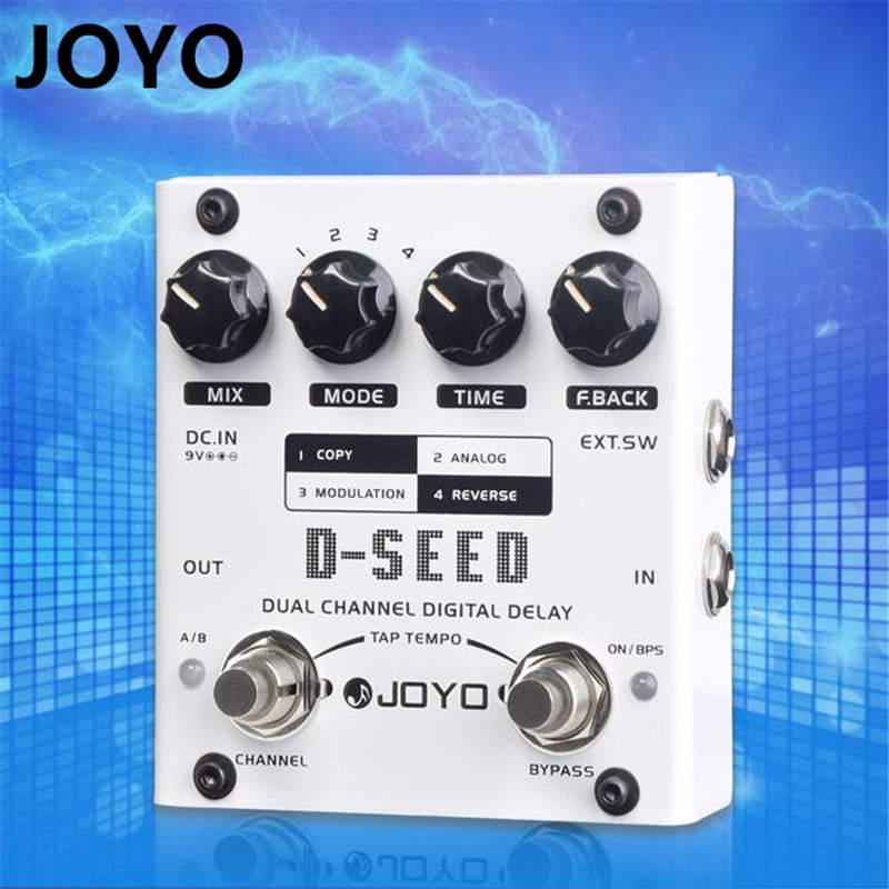 JOYO D-SEED Dual Channel Digital Delay Guitar Effect Pedal  Analog Delay Effects with Free 3m Cable joyo jf 304 new product time magic delay mini smart effect pedal analog sounding digital delay 600ms ture bypass free shipping