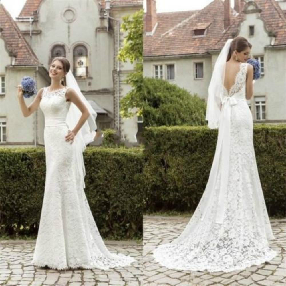 classic wedding dress High neck embroidered wedding dress with lace sleeves and neckline by Lela Rose