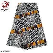 African Chiffon Digital Printed Fabric Pattern Hot Selling African Wax Prints Chiffon Fabric for Summer Dresses CHF 025 028