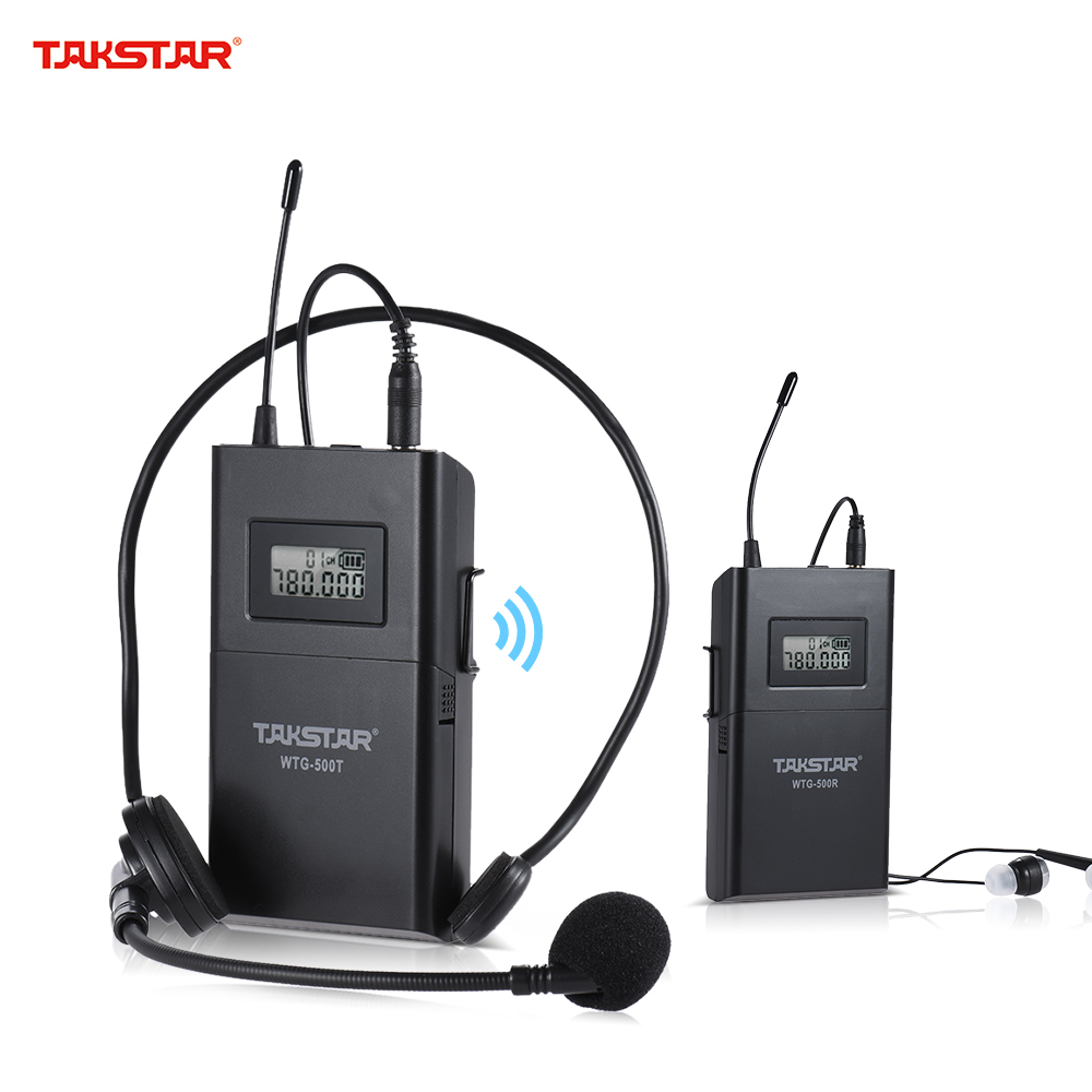UHF Wireless Acoustic Transmission System (Transmitter + Receiver) 100m Effective Range 6 Selectable Channels