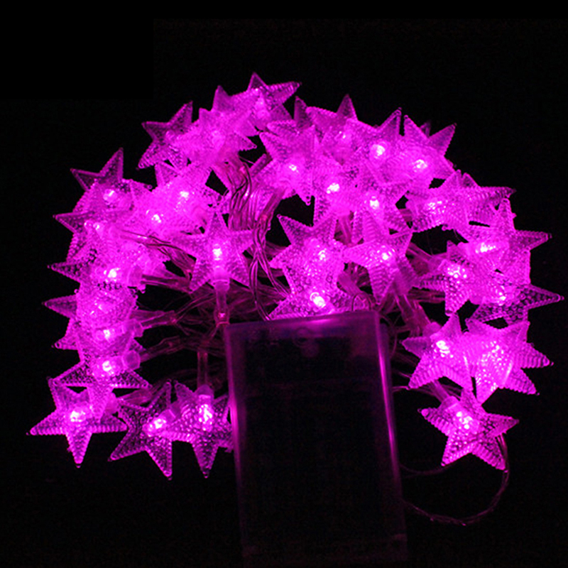 4M 40LEDs 3AA Battery Powered STAR Shaped Theme LED String Fairy Lights Holiday Wedding Party Decoration Lighting