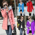 Women's Cotton-Padded Jacket 2017 Winter Medium-Long Down Cotton Plus Size Jacket Female Slim Ladies Warm Jackets And Coats